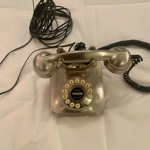 Antique Silver Phone with Modern Features!